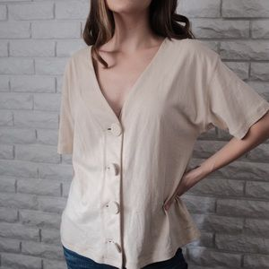 Urban Outfitters Oversized Button Up Blouse